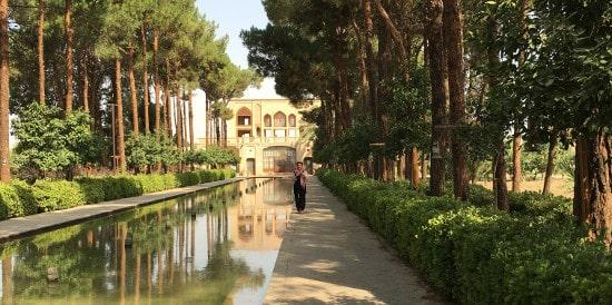 Le jardin Dolat-Abad à Yazd en Iran